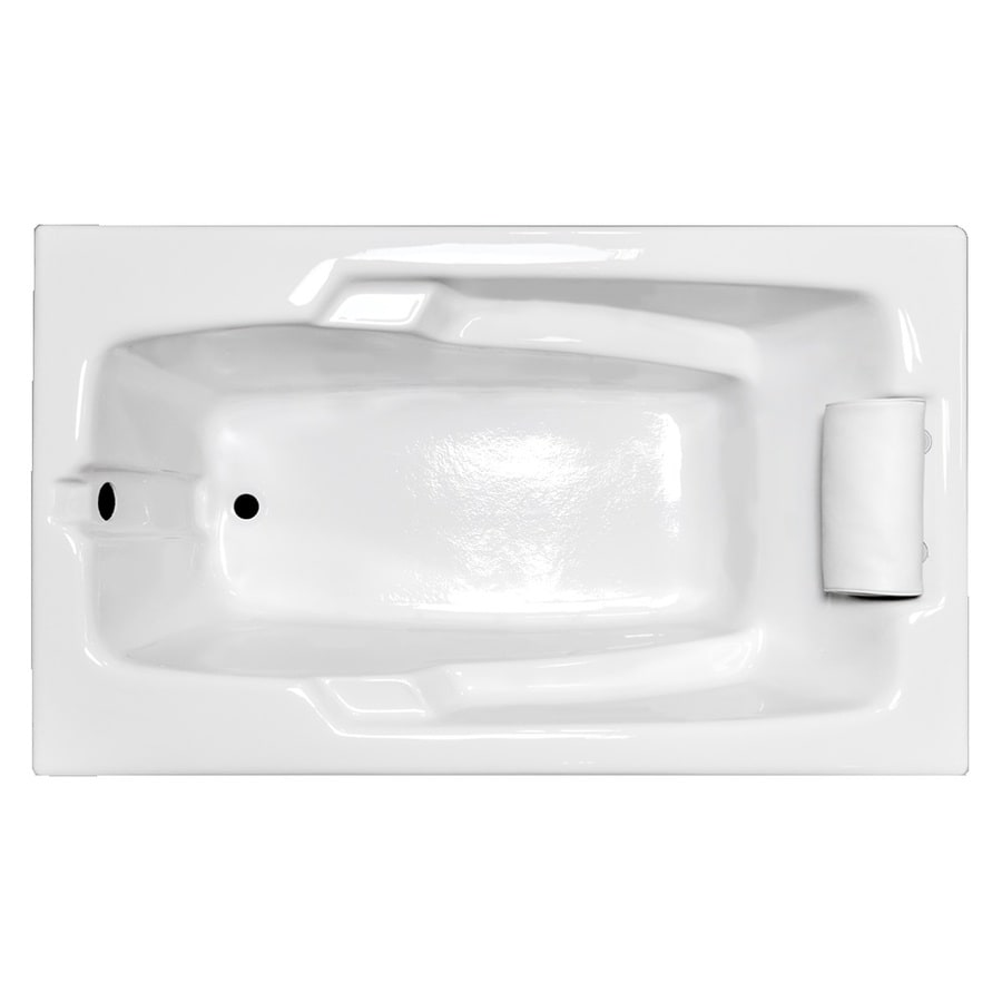 Laurel Mountain Mercer White Acrylic Rectangular Drop-in Bathtub with Reversible Drain (Common: 32-in x 60-in; Actual: 21.5-in x 31.75-in x 59.75-in