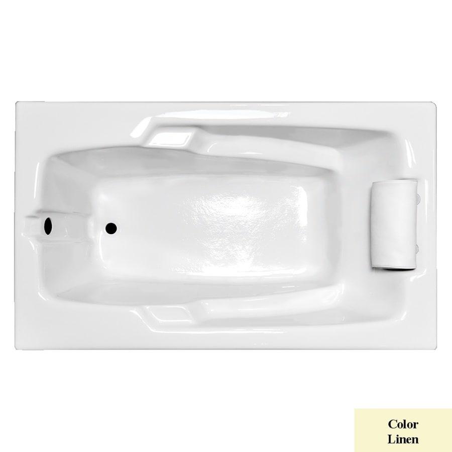 Laurel Mountain Mercer Ii Linen Acrylic Rectangular Drop-in Bathtub with Reversible Drain (Common: 36-in x 60-in; Actual: 21.5-in x 35.75-in x 59.75-in