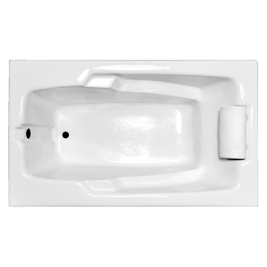 Laurel Mountain Mercer III 71.75-in White Acrylic Drop-In Bathtub with Reversible Drain