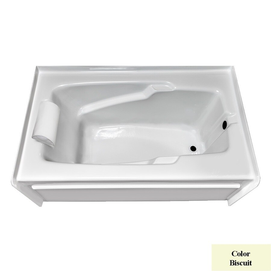 Laurel Mountain Mercer Iv Biscuit Acrylic Rectangular Skirted Bathtub with Right-Hand Drain (Common: 32-in x 60-in; Actual: 21.5-in x 32-in x 60-in