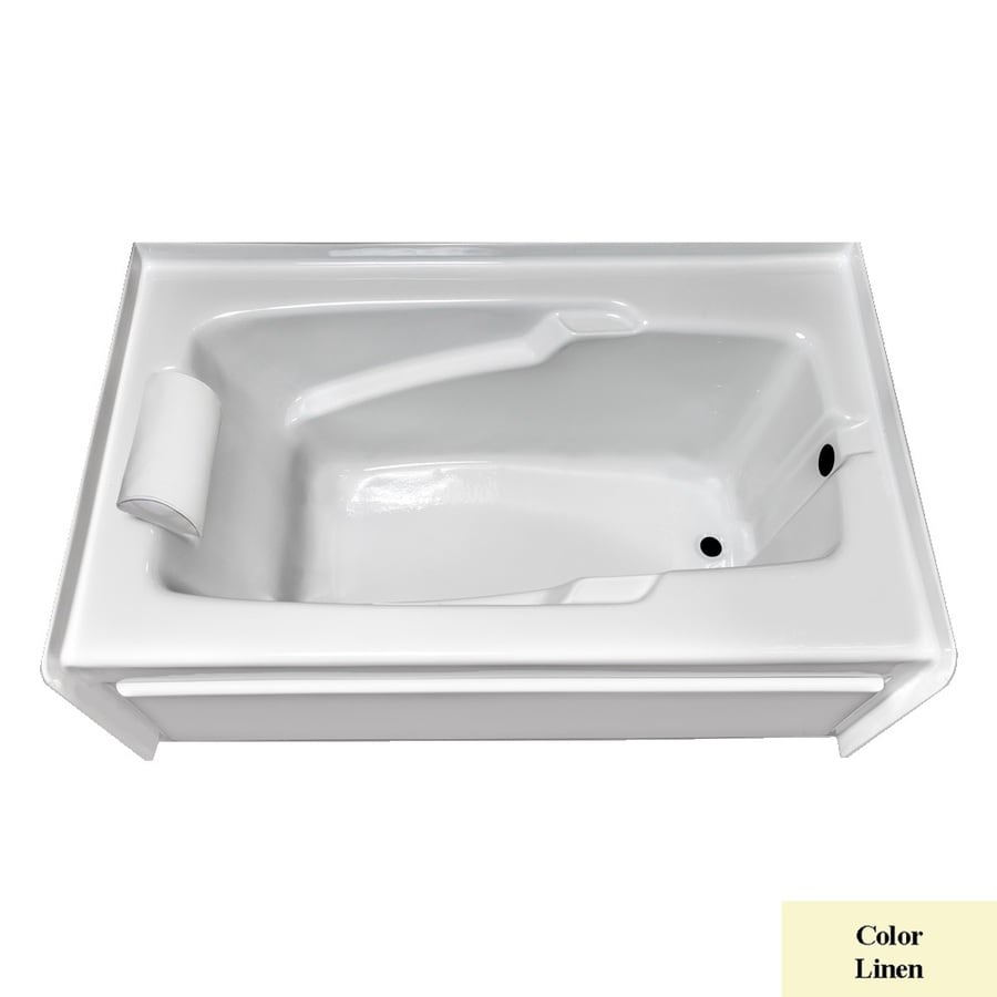 Laurel Mountain Mercer Vi Linen Acrylic Rectangular Skirted Bathtub with Right-Hand Drain (Common: 36-in x 72-in; Actual: 21.5-in x 36-in x 72-in