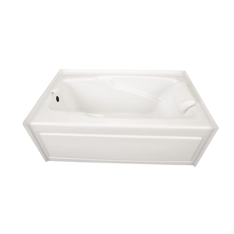Laurel Mountain Mercer VI 72-in White Acrylic Skirted Bathtub with Left-Hand Drain