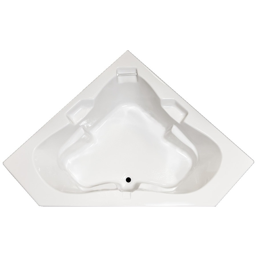 Laurel Mountain Tremont White Acrylic Corner Drop-in Bathtub with Center Drain (Common: 60-in x 60-in; Actual: 23-in x 59.75-in x 59.75-in