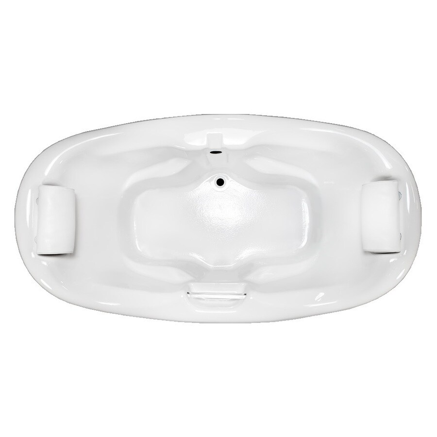 Laurel Mountain Windsor White Acrylic Oval Drop-in Bathtub with Center Drain (Common: 42-in x 75-in; Actual: 31.5-in x 42-in x 74.75-in