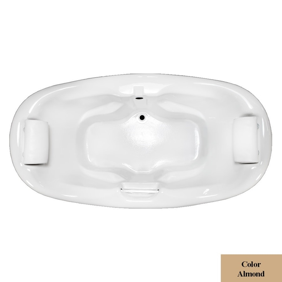 Laurel Mountain Windsor Almond Acrylic Oval Drop-in Bathtub with Center Drain (Common: 42-in x 75-in; Actual: 31.5-in x 42-in x 74.75-in