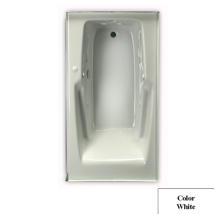 Laurel Mountain Standard Trade 1-Person White Acrylic Rectangular Whirlpool Tub (Common: 32-in x 60-in; Actual: 21.5-in x 32-in x 60-in)