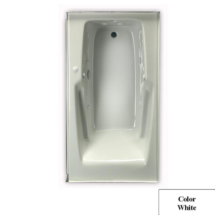 Laurel Mountain Standard Trade II 60-in White Acrylic Drop-In Whirlpool Tub with Reversible Drain