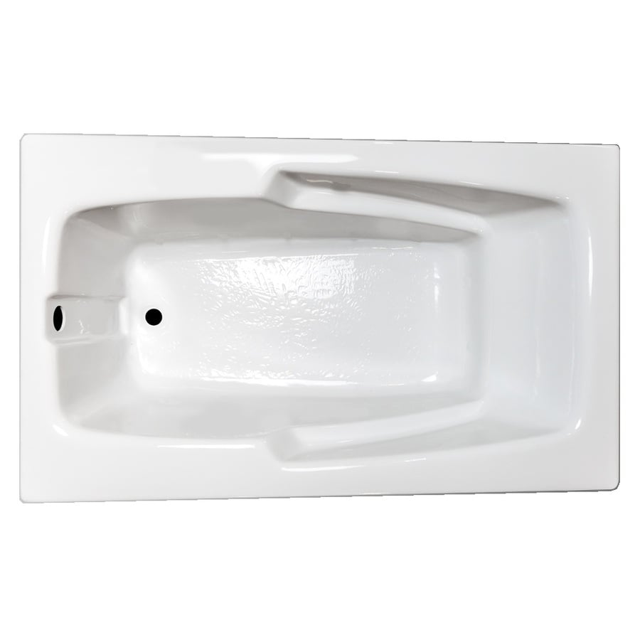 Laurel Mountain Standard Trade Ii White Acrylic Rectangular Drop-in Bathtub with Reversible Drain (Common: 36-in x 60-in; Actual: 21.5-in x 35.625-in x 59.5-in