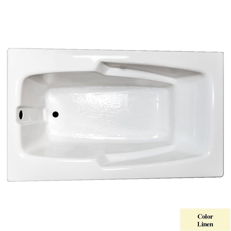 Laurel Mountain Standard Trade Ii Linen Acrylic Rectangular Drop-in Bathtub with Reversible Drain (Common: 36-in x 60-in; Actual: 21.5-in x 35.625-in x 59.5-in