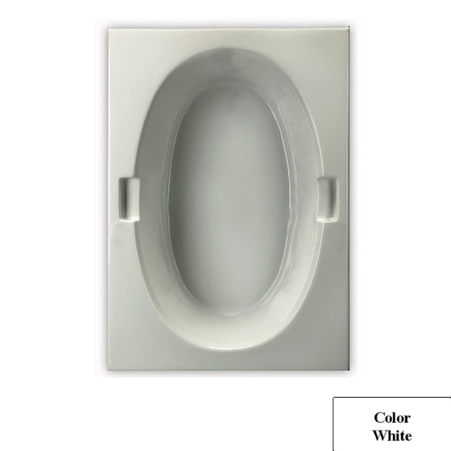 Laurel Mountain Oval Trade Ii White Acrylic Oval In Rectangle Drop-in Bathtub with Reversible Drain (Common: 42-in x 72-in; Actual: 21.5-in x 42-in x 71.75-in