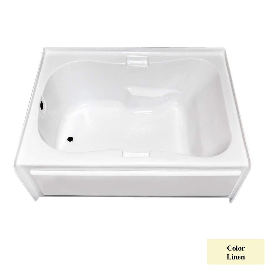 Laurel Mountain Hourglass Trade Ii Linen Acrylic Hourglass Skirted Bathtub with Left-Hand Drain (Common: 42-in x 72-in; Actual: 21.5-in x 41.75-in x 71.75-in