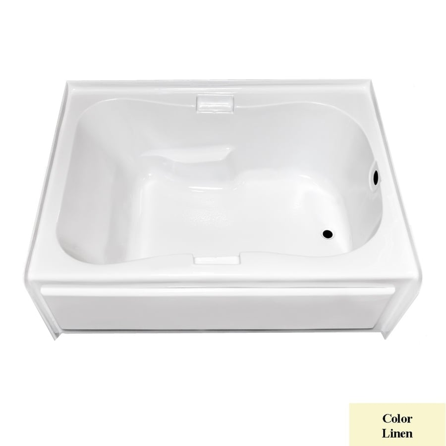 Laurel Mountain Hourglass Trade Ii Linen Acrylic Hourglass Skirted Bathtub with Right-Hand Drain (Common: 42-in x 72-in; Actual: 21.5-in x 41.75-in x 71.75-in