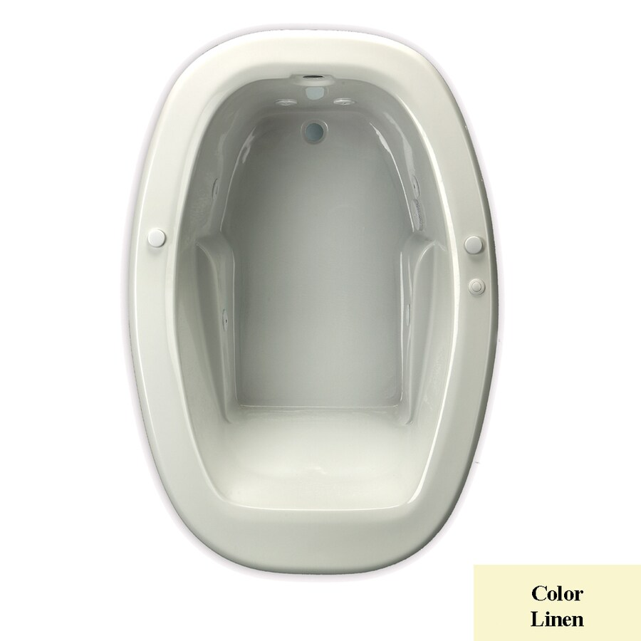 Laurel Mountain Drop-in Trade 1-Person Linen Acrylic Oval Whirlpool Tub (Common: 42-in x 60-in; Actual: 23-in x 42-in x 60-in)