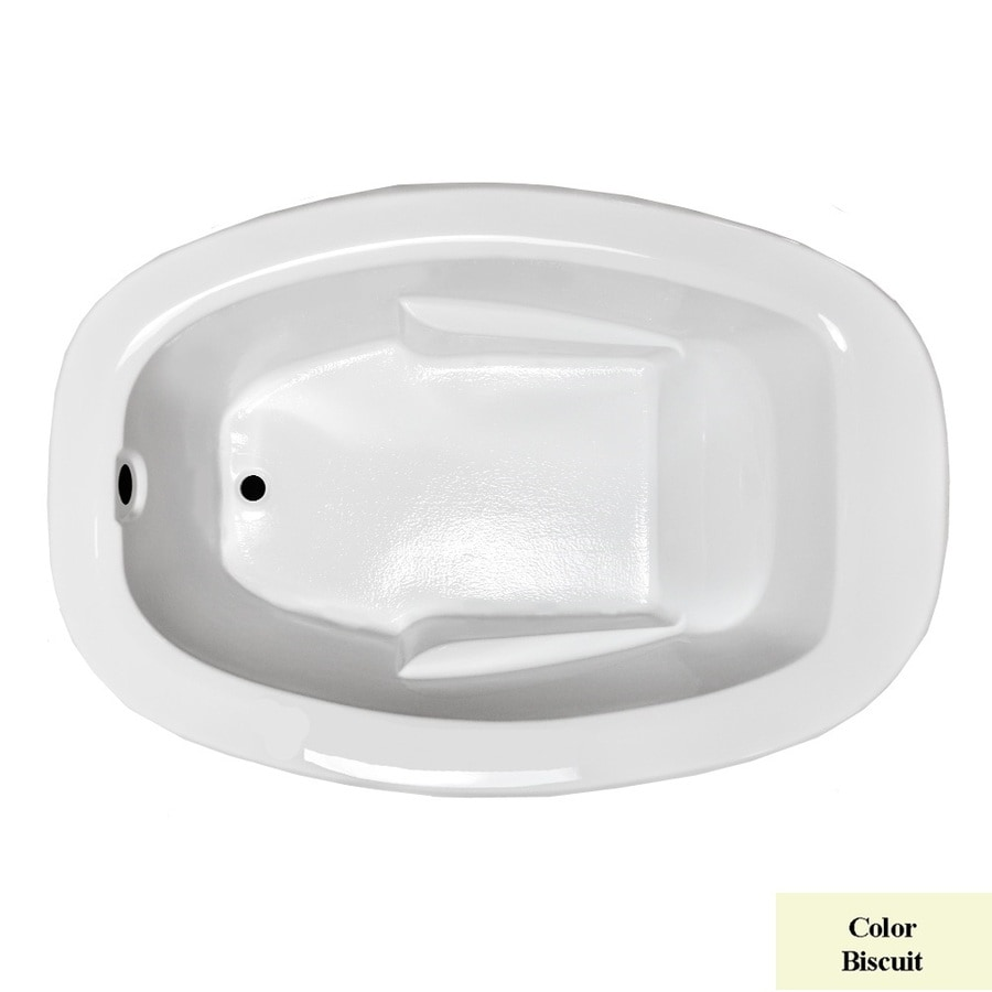 Laurel Mountain Drop-in Trade Biscuit Acrylic Oval Drop-in Bathtub with Reversible Drain (Common: 41-in x 60-in; Actual: 23-in x 40.75-in x 59.625-in