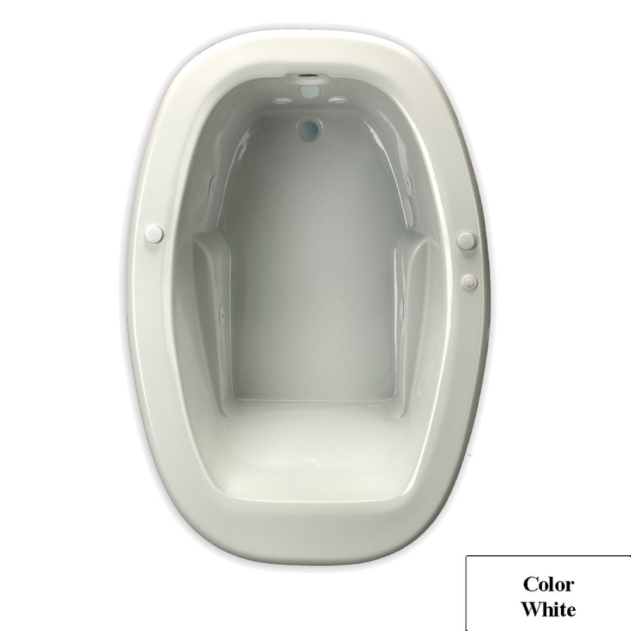 Laurel Mountain Drop In Ii Trade 1-Person White Acrylic Oval Whirlpool Tub (Common: 42-in x 72-in; Actual: 23-in x 42-in x 72-in)