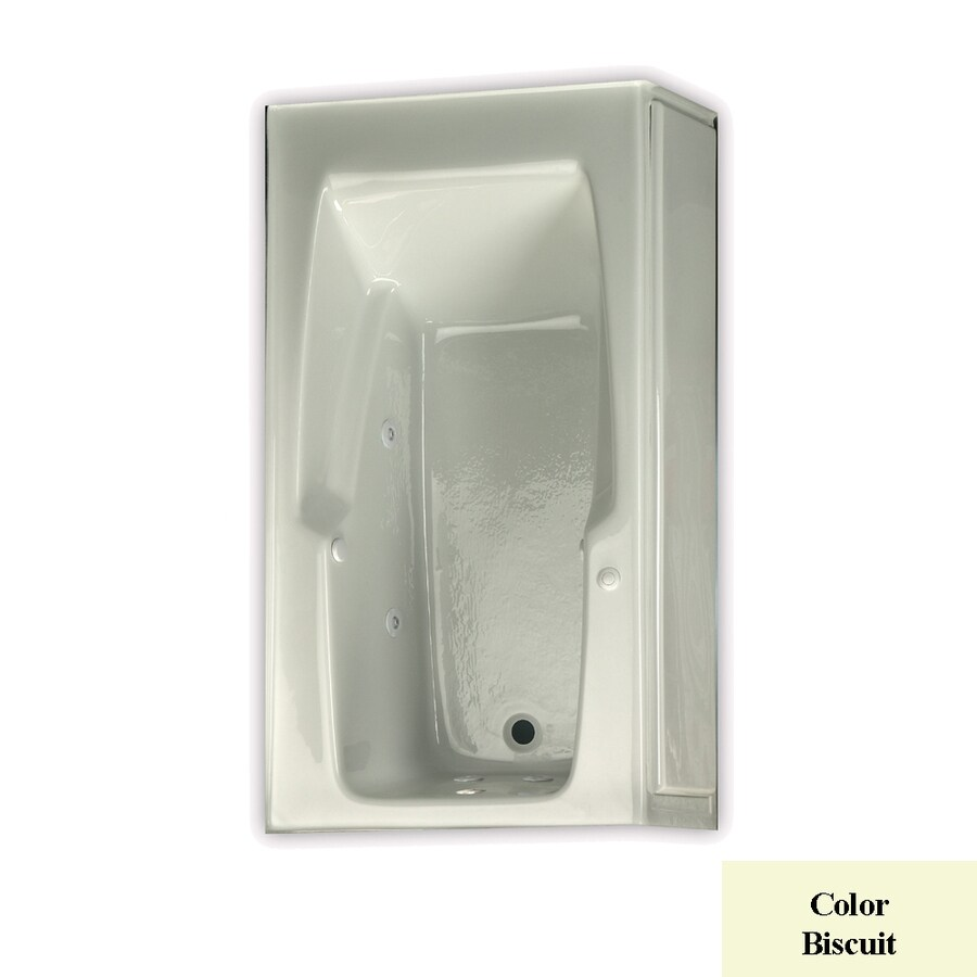 Laurel Mountain Replacement Skirted Trade 1-Person Biscuit Acrylic Rectangular Whirlpool Tub (Common: 32-in x 60-in; Actual: 18.5-in x 32-in x 60-in)