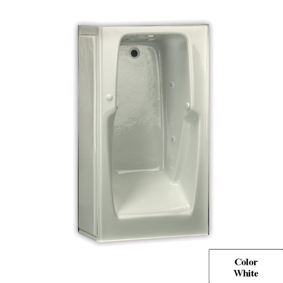 Laurel Mountain Replacement Skirted Trade 1-Person White Acrylic Rectangular Whirlpool Tub (Common: 32-in x 60-in; Actual: 18.5-in x 32-in x 60-in)
