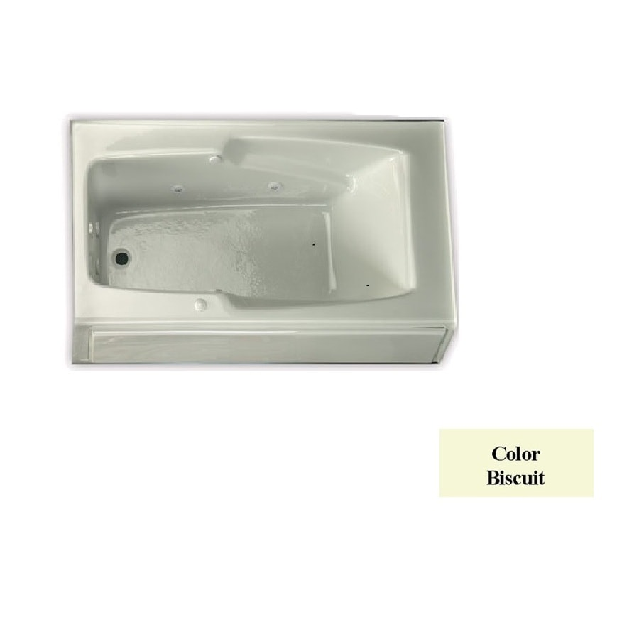 Laurel Mountain Replacement Skirted Trade Biscuit Acrylic Rectangular Skirted Bathtub with Left-Hand Drain (Common: 32-in x 60-in; Actual: 18.5-in x 32-in x 59.75-in