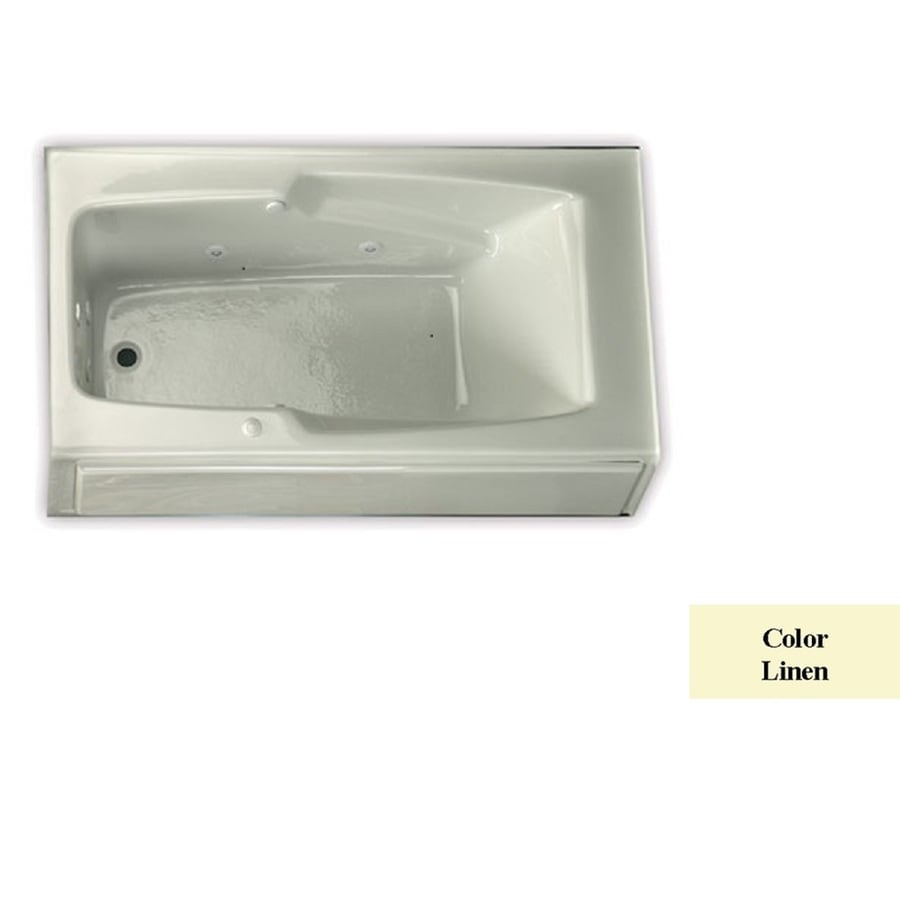 Laurel Mountain Replacement Skirted Trade Linen Acrylic Rectangular Skirted Bathtub with Left-Hand Drain (Common: 32-in x 60-in; Actual: 18.5-in x 32-in x 59.75-in