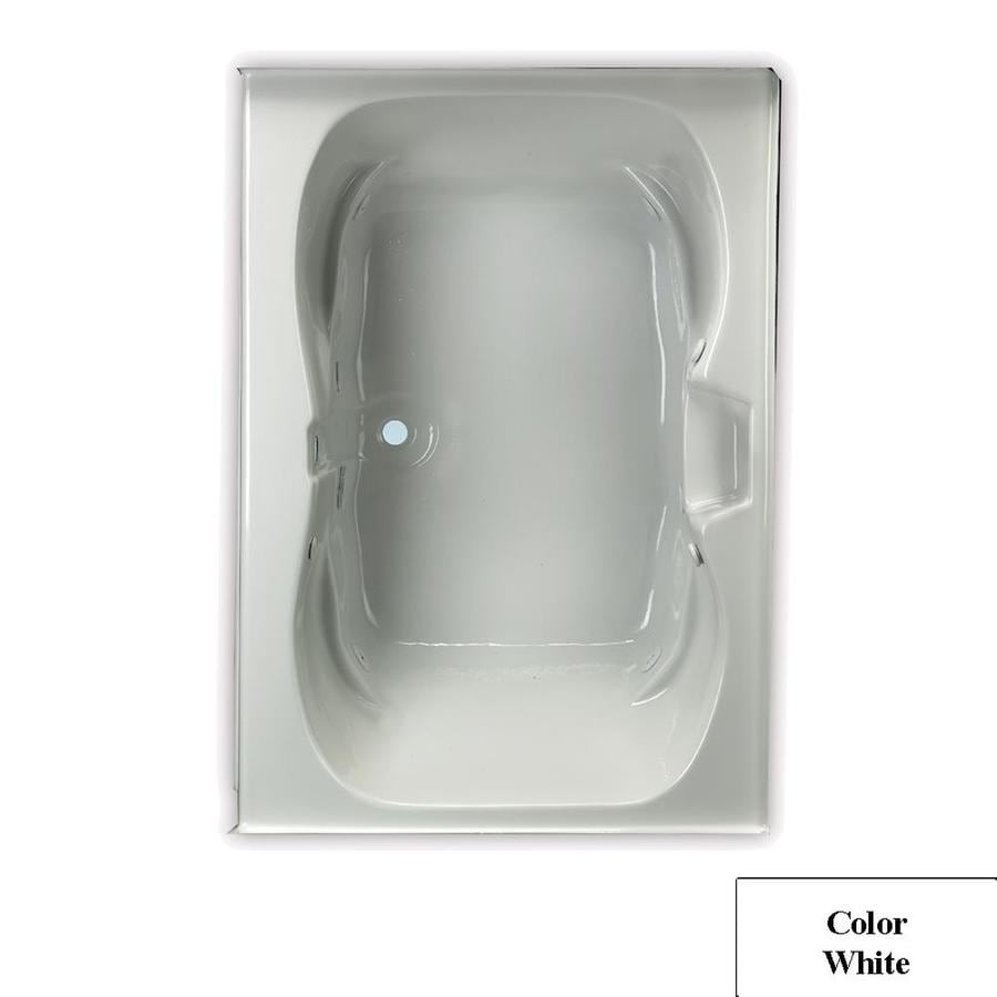 Laurel Mountain Alcove Trade 60-in White Acrylic Alcove Whirlpool Tub with Center Drain