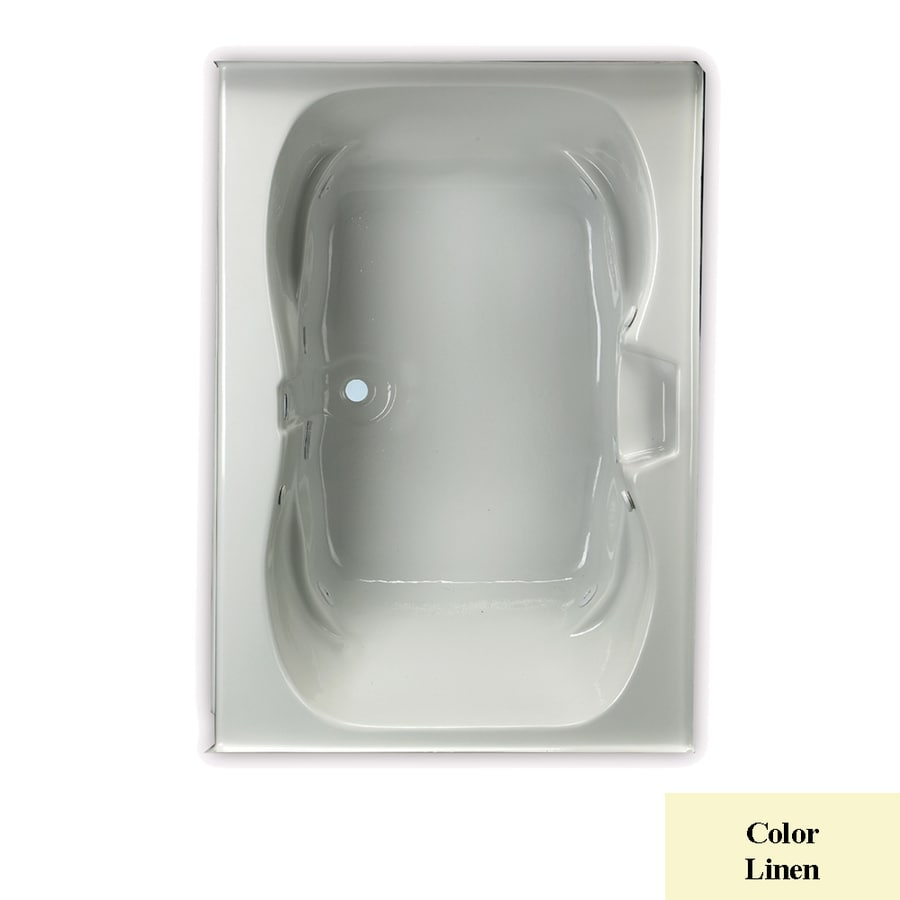 Laurel Mountain Alcove Trade 1-Person Linen Acrylic Hourglass In Rectangle Whirlpool Tub (Common: 30-in x 60-in; Actual: 23-in x 42-in x 60-in)