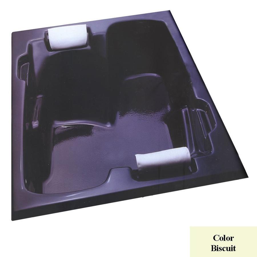 Laurel Mountain Oakmont II 72-in L x 54-in W x 26-in H Biscuit Acrylic 2-Person Rectangular Drop-in Air Bath