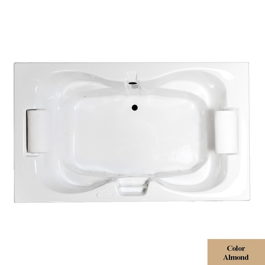 Laurel Mountain Seneca I 60-in L x 42-in W x 23-in H Almond Acrylic 2-Person Hourglass Drop-in Air Bath