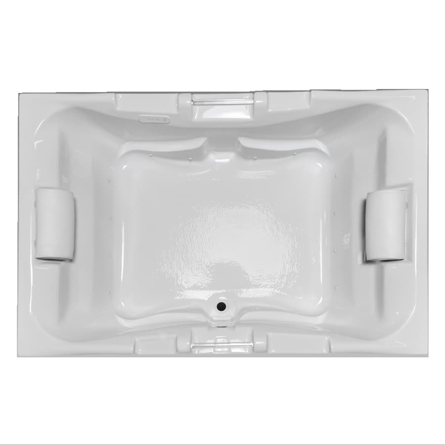 Laurel Mountain Delmont I 59.625-in White Acrylic Drop-In Air Bath with Center Drain