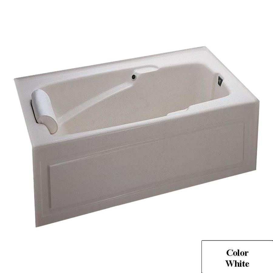 Laurel Mountain Mercer IV 60-in L x 32-in W x 21.5-in H White Acrylic Rectangular Alcove Air Bath