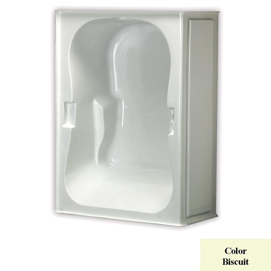 Laurel Mountain Hourglass Trade I 59.5-in Biscuit Acrylic Skirted Air Bath with Right-Hand Drain