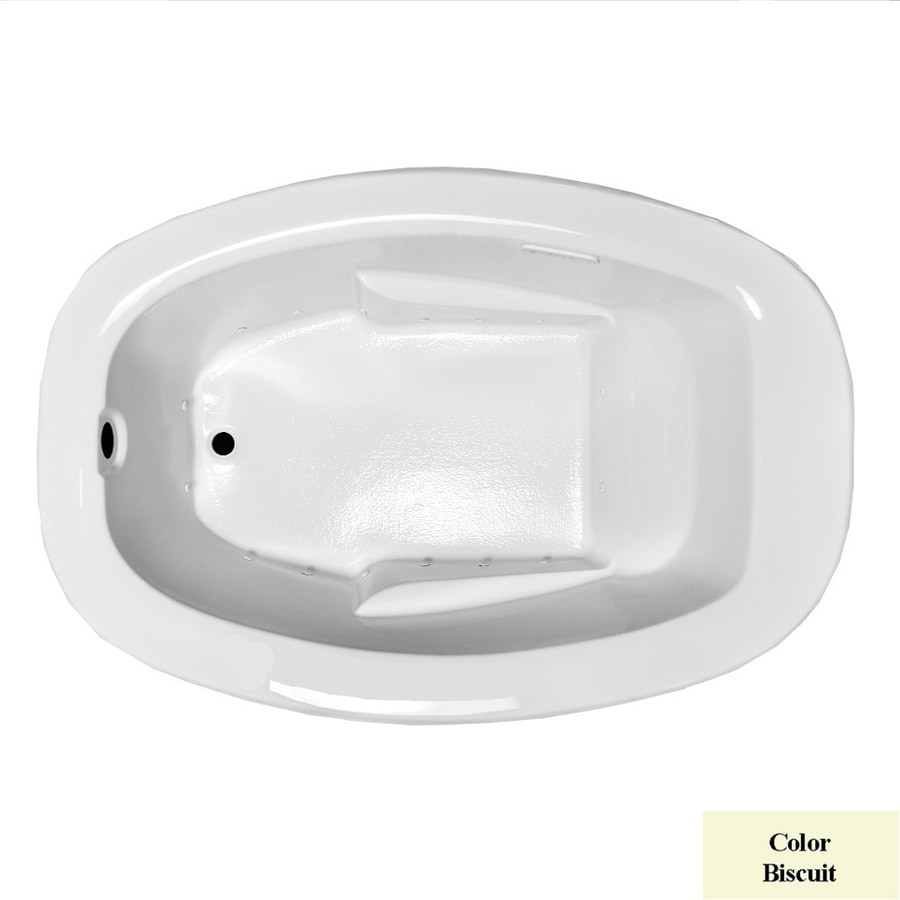 Laurel Mountain Trade Drop In 59.88-in L x 40.75-in W x 23-in H Biscuit Acrylic 1-Person-Person Oval Drop-in Air Bath