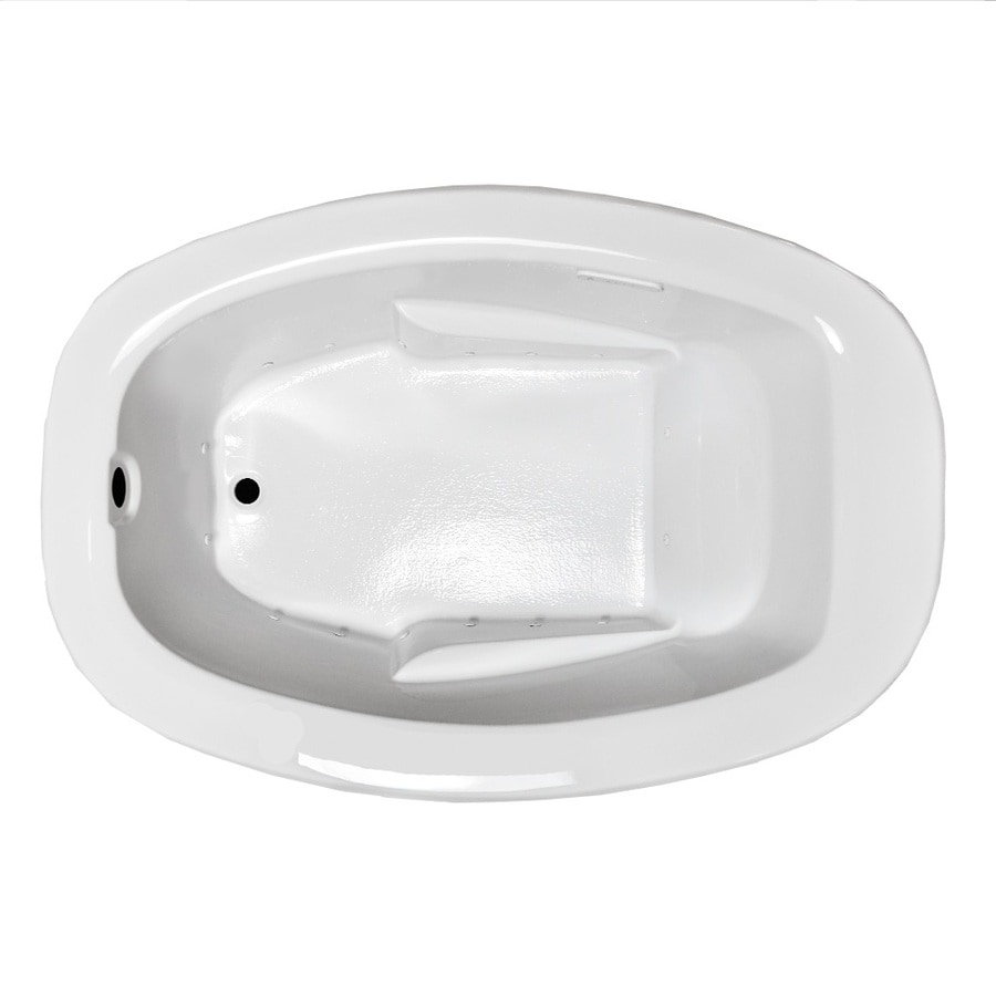 Laurel Mountain Trade Drop In II 71.75-in L x 41.5-in W x 23-in H White Oval Air Bath