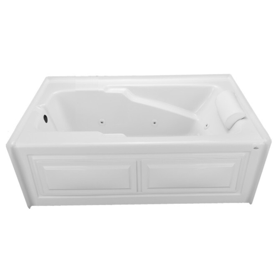 Laurel Mountain Mercer V 60-in L x 36-in W x 21.5-in H 1-Person White Acrylic Rectangular Whirlpool Tub and Air Bath