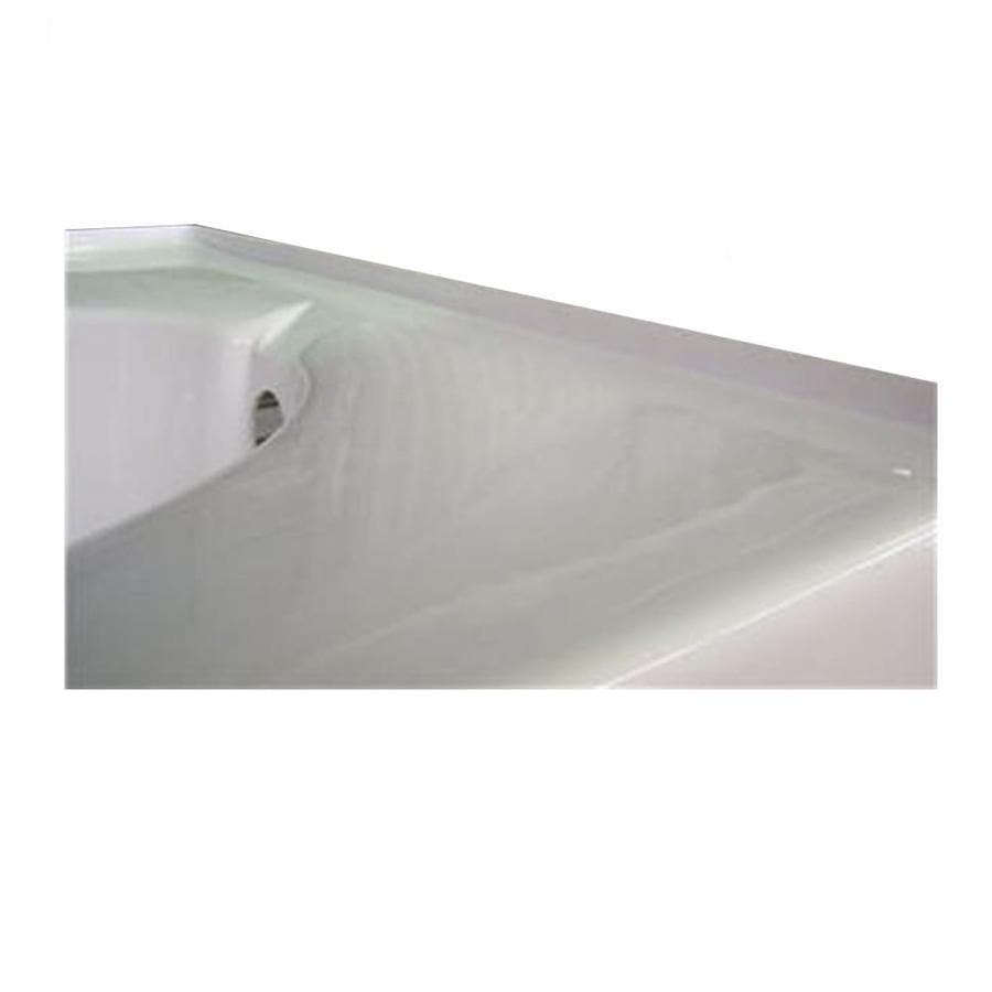 Laurel Mountain Integral Acrylic Tile Flange Drain Side