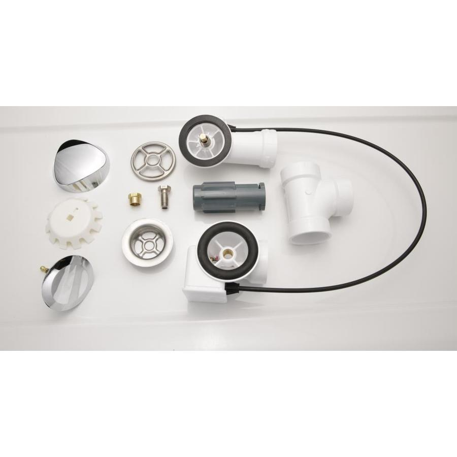 Shop Laurel Mountain Chrome Whirlpool Or Air Bath Drain Kit at Lowes.com