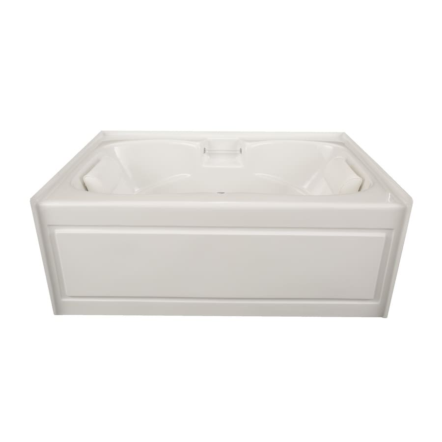 Laurel Mountain Alcove Plus White Acrylic Hourglass In Rectangle Alcove Bathtub with Center Drain (Common: 42-in x 60-in; Actual: 22-in x 41.75-in x 59.75-in