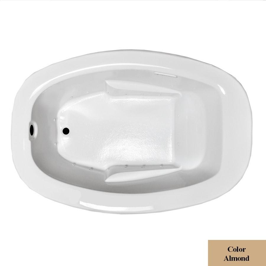 Laurel Mountain Drop In I Plus 60-in L x 42-in W x 23-in H Almond Acrylic Oval Drop-in Air Bath