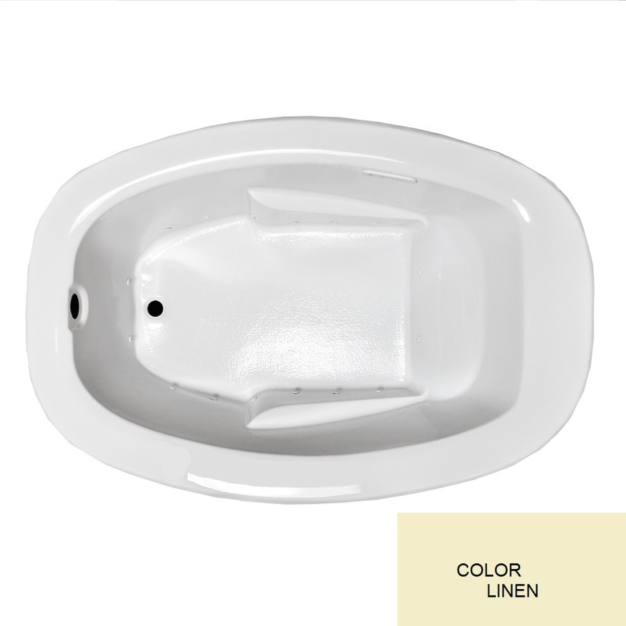 Laurel Mountain Drop In I Plus 60-in L x 42-in W x 23-in H Linen Acrylic Oval Drop-in Air Bath