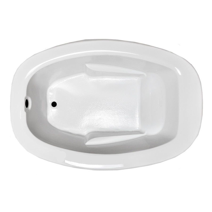 Laurel Mountain Drop In I Plus White Acrylic Oval Drop-in Bathtub with Reversible Drain (Common: 41-in x 60-in; Actual: 23-in x 40.75-in x 59.875-in
