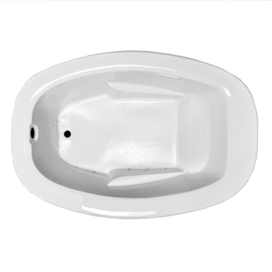 Laurel Mountain Drop In II Plus 72-in L x 42-in W x 23-in H White Acrylic Oval Drop-in Air Bath