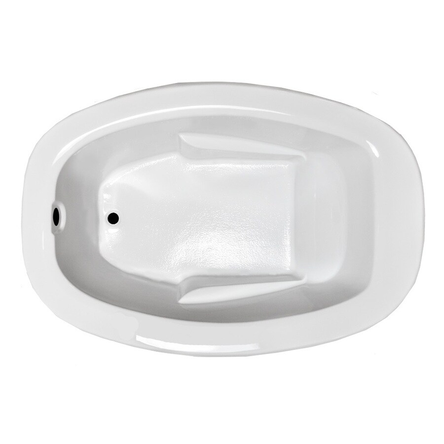 Laurel Mountain Drop In Ii Plus White Acrylic Oval Drop-in Bathtub with Reversible Drain (Common: 42-in x 72-in; Actual: 23-in x 41.5-in x 71.75-in