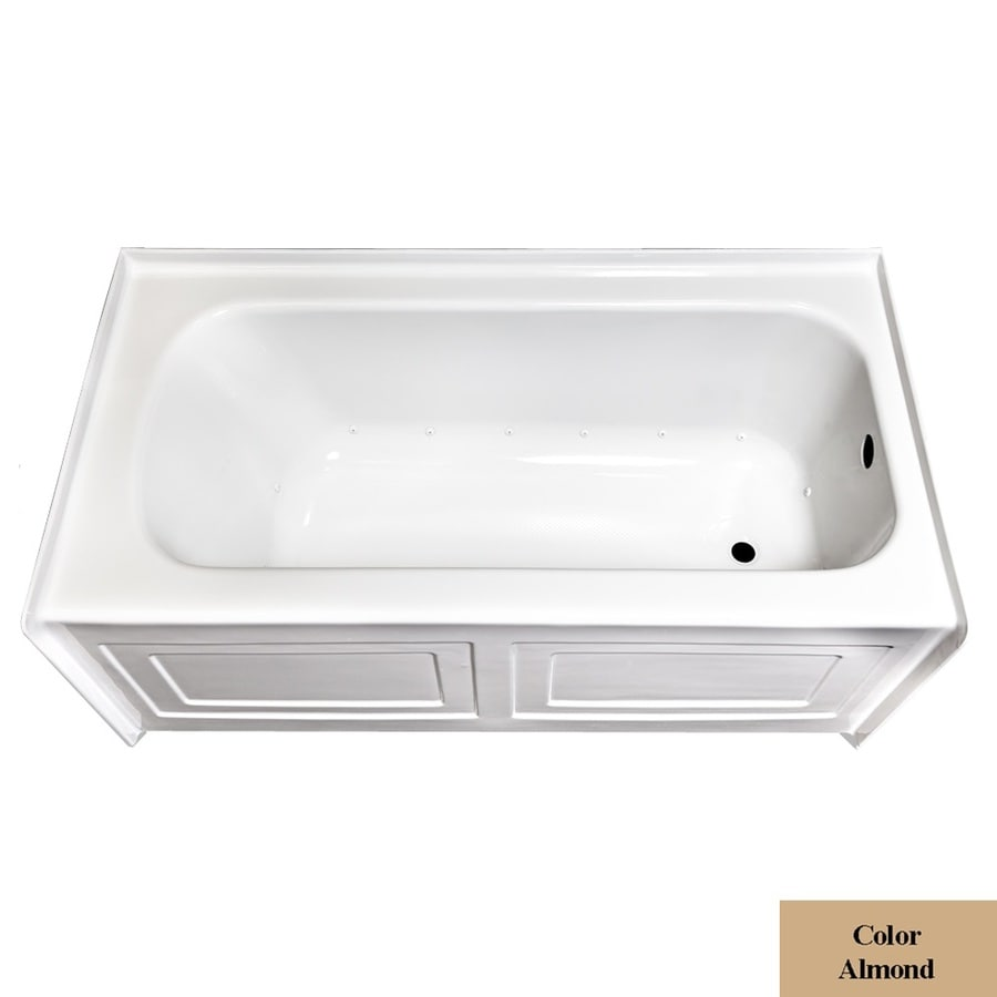 Laurel Mountain Fairhaven IV Skirted Alcove 60-in L x 32-in W x 22.5-in H Almond Acrylic Rectangular Skirted Air Bath