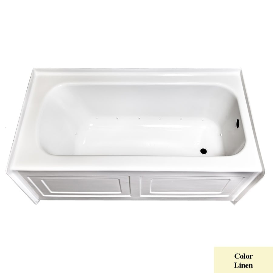 Laurel Mountain Fairhaven IV Skirted Alcove 60-in L x 32-in W x 22.5-in H Linen Acrylic Rectangular Skirted Air Bath