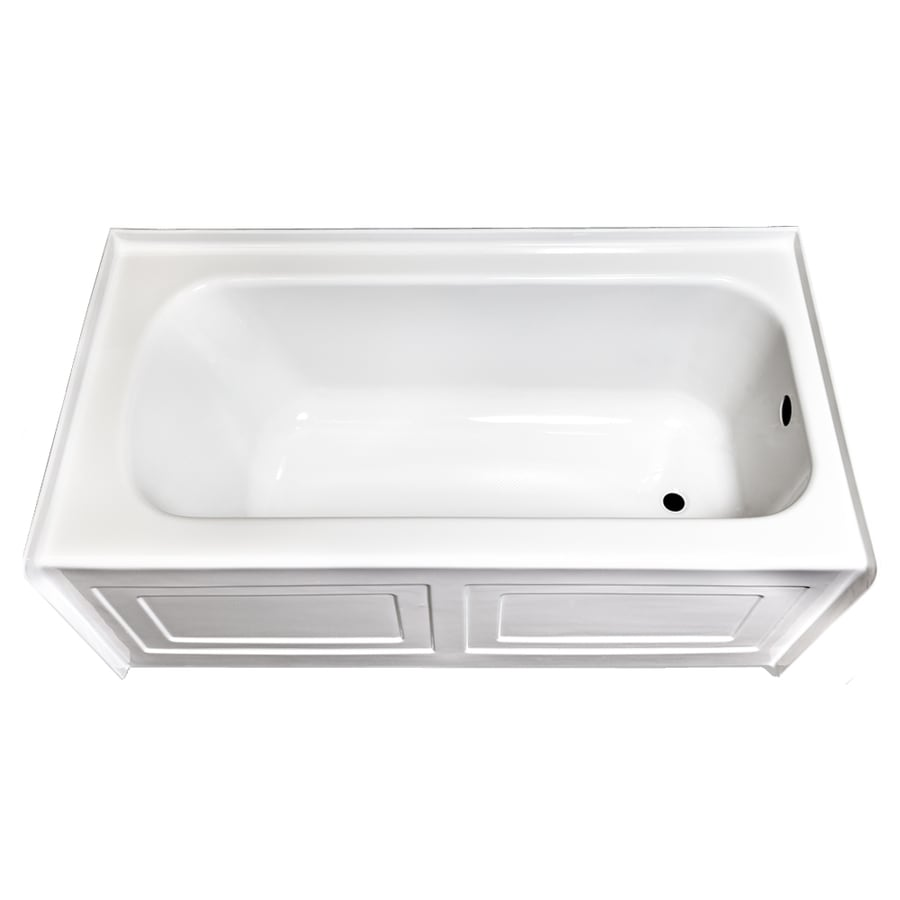 Laurel Mountain Fairhaven Iv White Acrylic Rectangular Skirted Bathtub with Right-Hand Drain (Common: 32-in x 60-in; Actual: 22.5-in x 31.5-in x 59.75-in