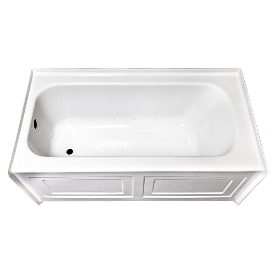 Laurel Mountain Fairhaven IV Skirted Alcove 60-in L x 32-in W x 22.5-in H White Acrylic Rectangular Skirted Air Bath