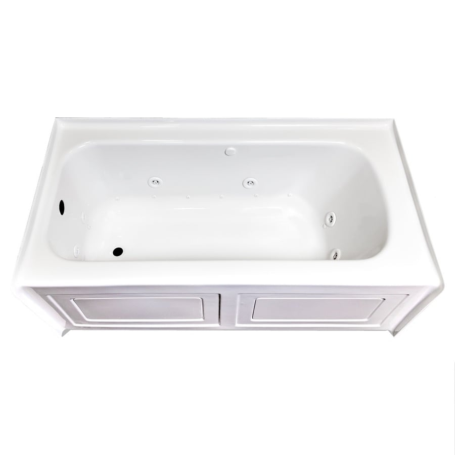 Laurel Mountain Fairhaven IV 60-in L x 32-in W x 22.5-in H White Acrylic Rectangular Whirlpool Tub and Air Bath