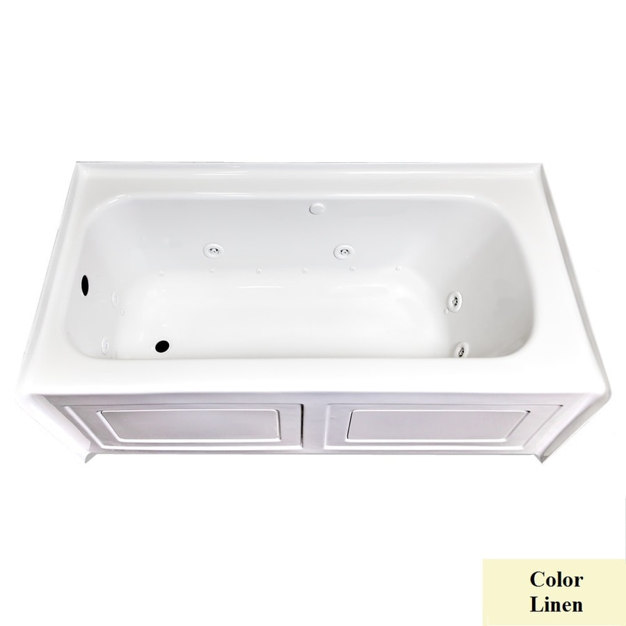 Laurel Mountain Fairhaven Iv 60-in L x 32-in W x 22.5-in H 1-Person Linen Acrylic Rectangular Whirlpool Tub and Air Bath