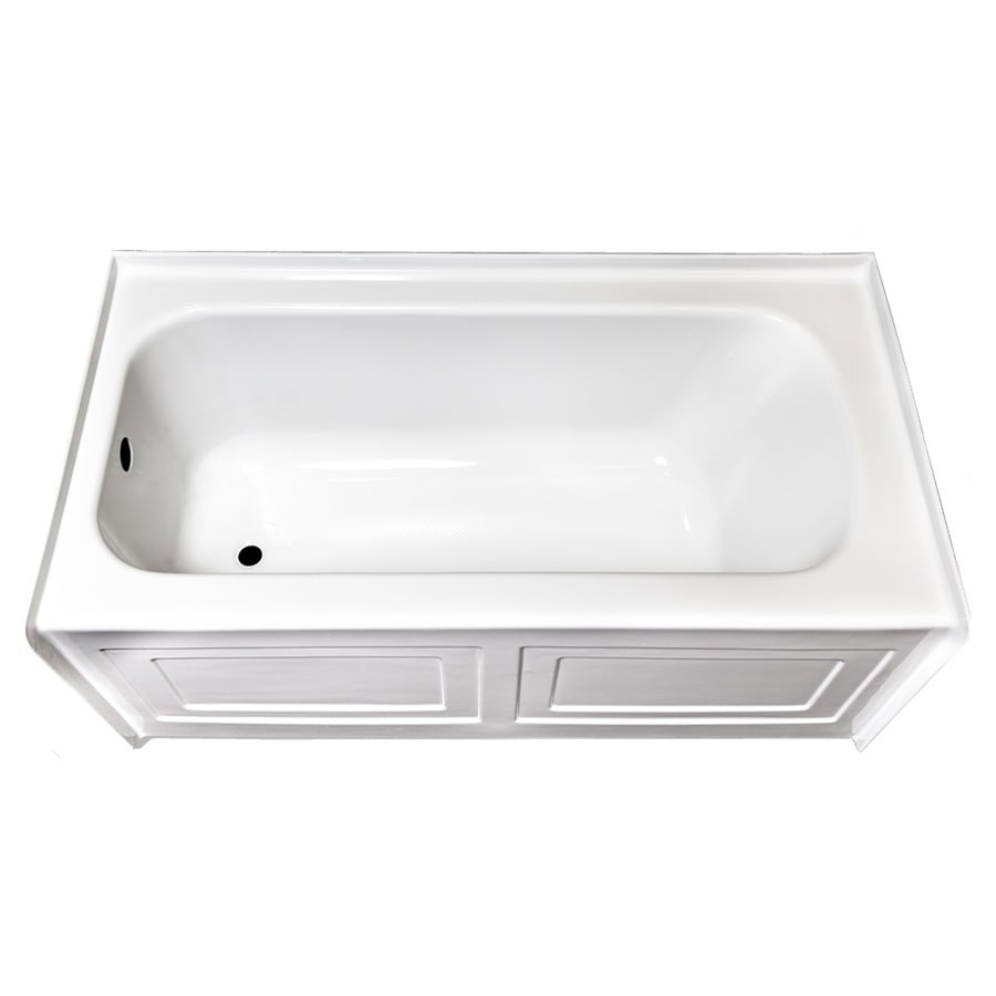 Laurel Mountain Fairhaven Iv White Acrylic Rectangular Skirted Bathtub with Left-Hand Drain (Common: 32-in x 60-in; Actual: 22.5-in x 31.5-in x 59.75-in