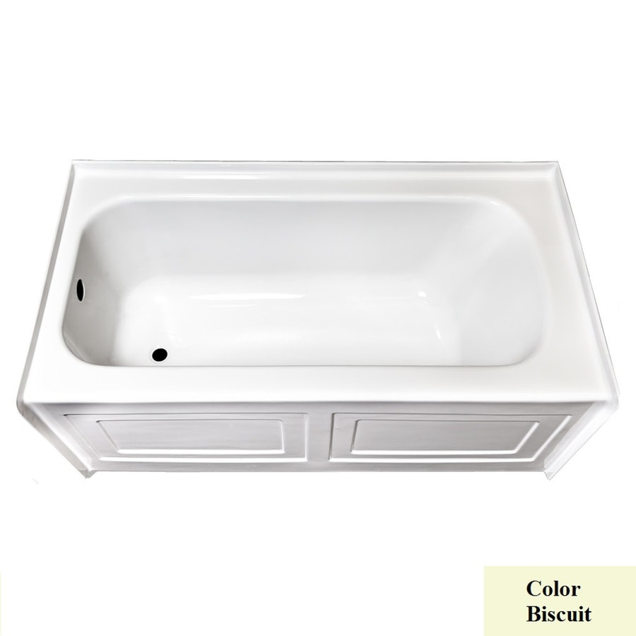Laurel Mountain Fairhaven Iv Biscuit Acrylic Rectangular Skirted Bathtub with Left-Hand Drain (Common: 32-in x 60-in; Actual: 22.5-in x 31.5-in x 59.75-in