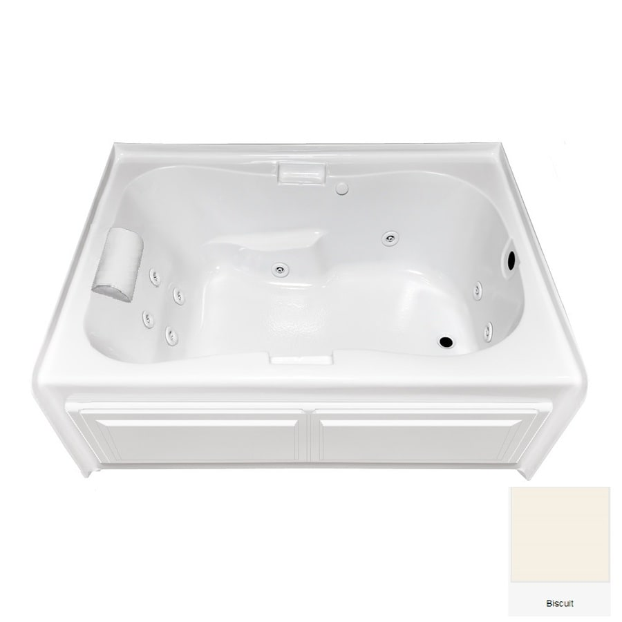 Laurel Mountain Hourglass I Plus Biscuit Acrylic Hourglass In Rectangle Whirlpool Tub (Common: 42-in x 60-in; Actual: 21.5-in x 41.75-in x 59.5-in)